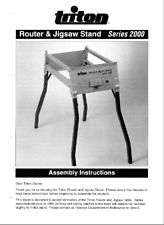 Triton Router & Jigsaw Stand Series 2000 Assembly Instructions