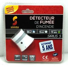 3 Stück Simto Sirius 5 Rauchmelder Smoke Detector Smokedetector weiß OVP NEU