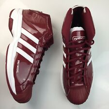 Adidas SM Pro Model 2G TEAM Basketball Shoes Burgundy Mens Size 14 FV7051 NEW
