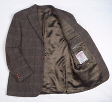 "Vtg Harris Tweed Mario Barutti Checked Hacking Jacket Men Blazer 42"" L PRISTINE"