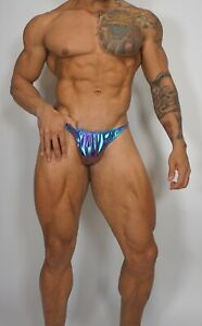 NEW MEN'S HOLOGRAM POSING TRUNKS BODYBUILDER Muscle $60.00 MEDIUM