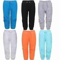WOMENS LADIES PLUS SIZE JOGGING BOTTOMS JOG PANT CAPRI TROUSERS 3/4 SHORTS 16-26