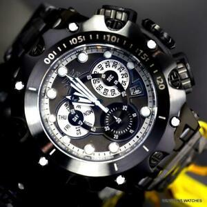 Invicta Venom Hybrid Swiss Mvt Chronograph Black Stainless Steel Watch 52mm New