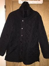 "Barbour Black Polar Quilts Funnel Neck Jacket Coat Size S AtoA20"" L30"" *S2"