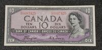 Canada 1954 Coyne Towers BC-32a $10.00 Banknote DD 0097425 Devil's Face AU