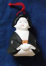 """Ceramic Japanese Female Figure Ornament Purchased in Kyoto (3"""" tall)"""