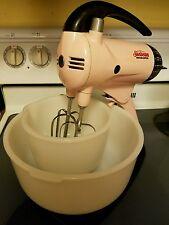 Vintage Original Rare SUNBEAM MIX MASTER Kitchen Aid Pink 1950 Model 10 Restored