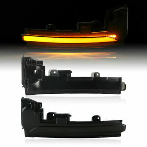 LED Indicator Exterior Mirror For Land Rover Range Rover Evoque 2011-2015 Black