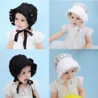 Baby Girl Infant Newborn Kids Cute Lace Hat Cap Beanies Vintage Bonnet Hats Hair