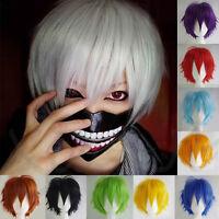 Tokyo Ghoul Wig Kaneki Ken Short Silver White Cosplay Wig Straight Hair Anime J2