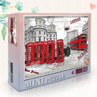 Mini Puzzlespiel für Erwachsene 1000pcs Paris Straße New York Europa Stadt