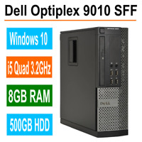 Dell OptiPlex 9010 SFF Computer i5 Quad 3.2GHz 8GB RAM 500GB HDD WIFI Windows 10