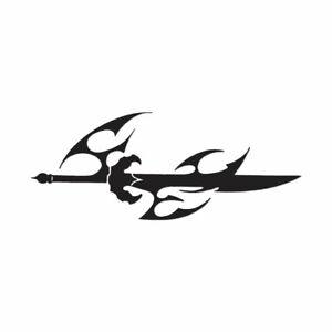 Sword Dagger Tribal - Vinyl Decal Sticker - Multiple Color & Sizes - ebn679
