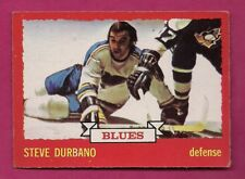 1973-74 OPC # 124 BLUES STEVE DURBANO  ROOKIE EX-MT CARD (INV# A7039)