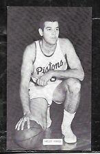 1960's  J.D. McCARTHY BASKETBALL POSTCARD BAILEY HOWELL -  PISTONS