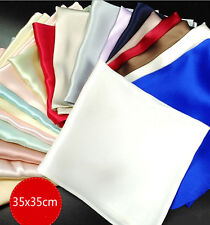 30 Pcs Unisex 100% Mulberry Silk Charmeuse Handkerchief Silk Pocket Hankies