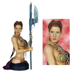 Gentle Giant Star Wars Princess Leia Organa as Jabba's Slave MINI BUST NEW HTF