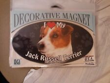 I Love My Jack Russell Terrier~Dog Decorative Magnet~New In Package~Made In Usa