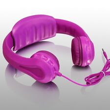 Aluratek Volume Limiting Foam Wired Headphones for Children - Pink