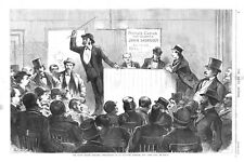 Pool Selling in East Side Bar Room, New York City - Night Before Election  -1875