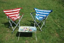 2 X Gadabout Maclaren Folding Chairs 70s Vintage Camping Festival Walking Stick