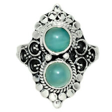 Aquamarine - Brazil 925 Sterling Silver Ring Jewelry s.8 AR126853 185K