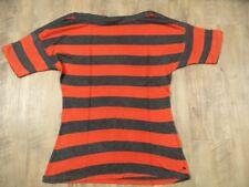 ESPRIT schönes gestreiftes Shirt U-Boot-Ausschnitt orange grau Gr. S TOP  RJ917