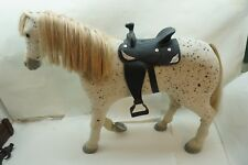 AMERICAN GIRL HORSE PICASSO PLUS SADDLE FOR SAIGE SAGE DOLL RETIRED POSEABLE LEG