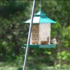 Green Birdfeede Seed Hanging Garden Wildlife Squirrel Proof Outdoor Bird Feeder-