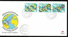 Dutch Antilles - 1973 Telecommunication Mi. 269-71 clean unaddressed FDC