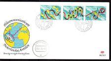 Dutch Antilles - 1973 Telecommunication Mi. 269-71 clean unaddressed FDC