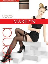 """Exclusive Hold-ups by Marilyn """"COCO VENA"""" -15 Denier - 8cm Deep Lace Top"""