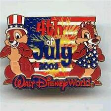 Disney Chip and Dale Wdw - 4th of July Patriotic pin/pins