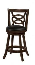 Solid Wood Cappuccino Swivel Counter Stools Chairs by Coaster 101929 - Set of 2