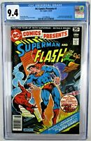 DC Comics Presents #1 CGC 9.4 1978 4th Superman Flash Race WH pgs FREE SHIPPING!