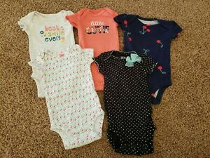 Newborn Girl Bodysuits, Short Sleeve Bodysuits, Newborn Baby Clothes Lot