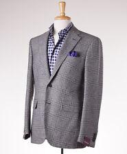 NWT $3095 SARTORIA PARTENOPEA Gray Glen Plaid Wool-Cashmere Sport Coat 42 R Eu52