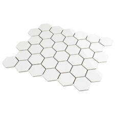 Hexagonal Hexágono Blanco Brillantes Azulejos Mosaico Mosaikfliesen5, 1 X 5,9 Cm
