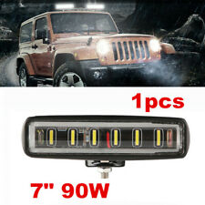7inch 90W Slim Single Row 8D Spot Beam Off-Road LED Work Light Bar Waterproof