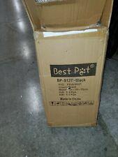 Open Black Pet Stroller Cat Dog Cage 3 Wheels Stroller Travel Folding Carrier