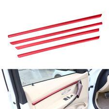 4pcs Red Interior Door Molding Strip Set Trim Fit For BMW 3 Series F30 F31 13-18