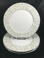 Vintage CHRISTINE Porcelain Daisy Pattern Set of 3 Dinner Plates