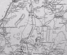 Sunderland Leverett MA 1871 Map with Homeowners Names Shown