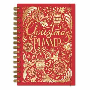 Luxury Red Hardback Christmas Organiser Notebook Planner Reusable Rachel Elle...