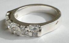 Bague Designer 12 Zirkonias Brillant Taille 925 Argent Vintage 90er silver ring