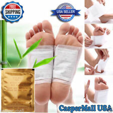 50 Pcs New Cleansing Detox Foot Pad Patch Detoxify Toxins + Adhesive Health Care