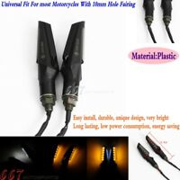 Universal Motorcycle LED Turn Signal Light Lamp Indicator 10mm Hole For Harley