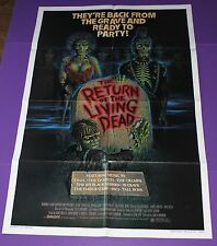 RETURN OF THE LIVING DEAD MOVIE POSTER ORIGINAL ONE SHEET CLU GULAGER