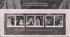 2017 GB QE2 STAMP PRESENTATION PACK NO 549 ROYAL WEDDING PLATINUM ANNIVERSARY