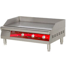 "30"" Stainless Steel Electric Restaurant Countertop Flat Top Griddle"